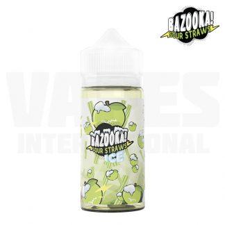 Bazooka Sour Straws – Apple Ice (100 ml, Shortfill) 1