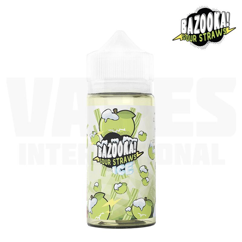 Bazooka Sour Straws - Apple Ice (100 ml, Shortfill)