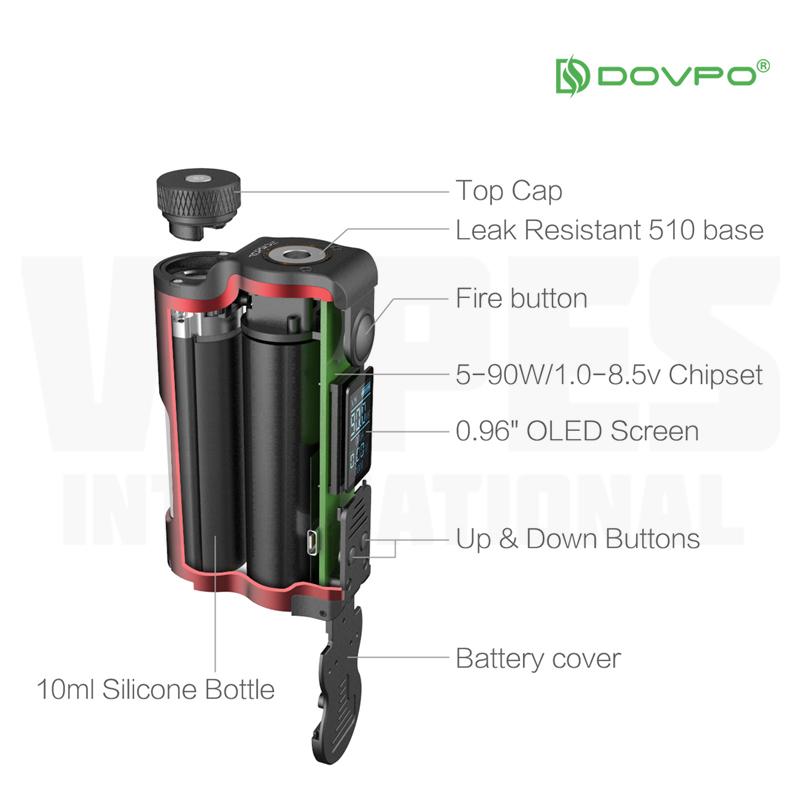 Dovpo TVC Topside Squonk Mod (90W, 10ml) | Vapes International
