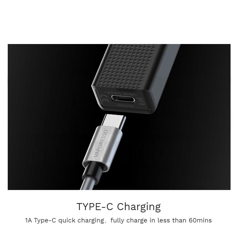 Vaporesso Xros Type-C Charging